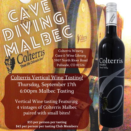 Cave Diving Vertical Tasting -6:00pm Malbec Tasting