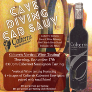 Cave Diving Vertical Tasting -8:00pm Cab Sauv Tasting